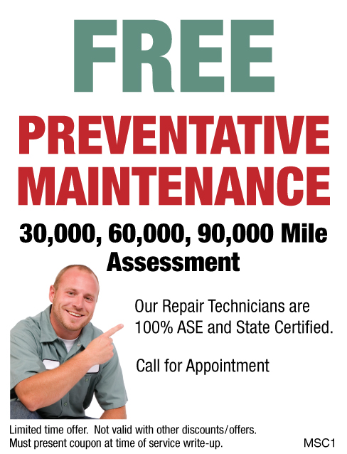 Free Preventative Maintenance Assessment