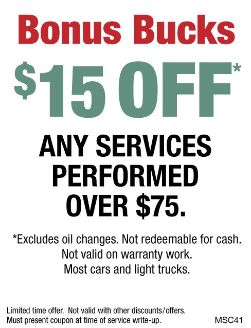 $15 OFF Any Service Over $75