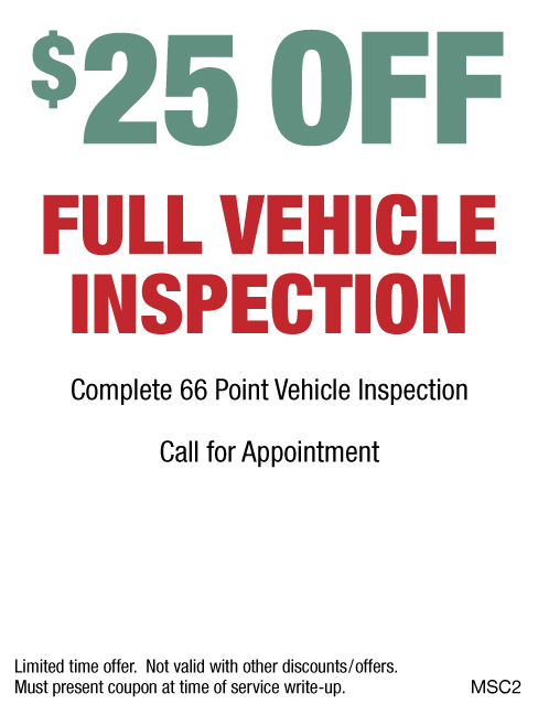 $25 OFF Full Vehicle Inspection
