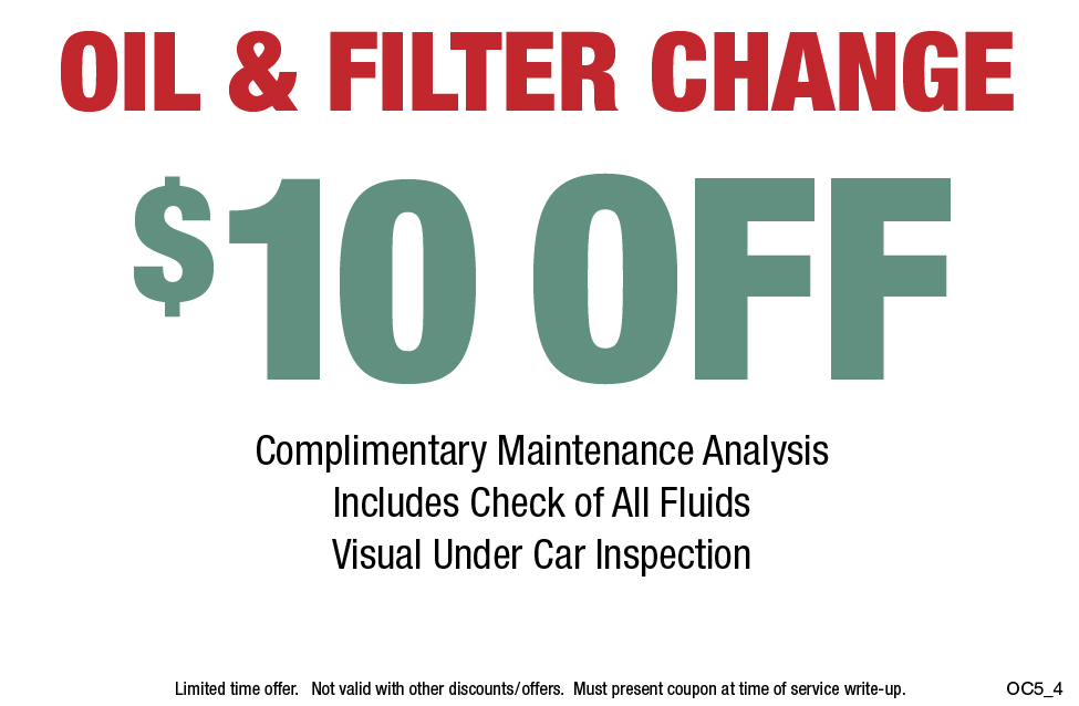 $10 OFF Oil Change & Filter