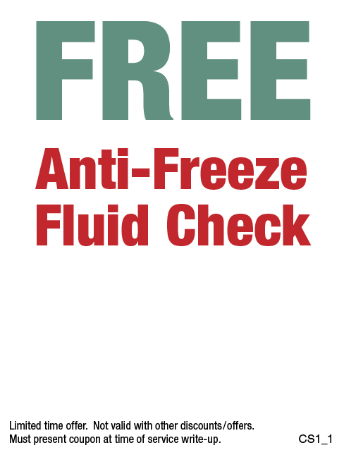 FREE Anti-Freeze Fluid Check