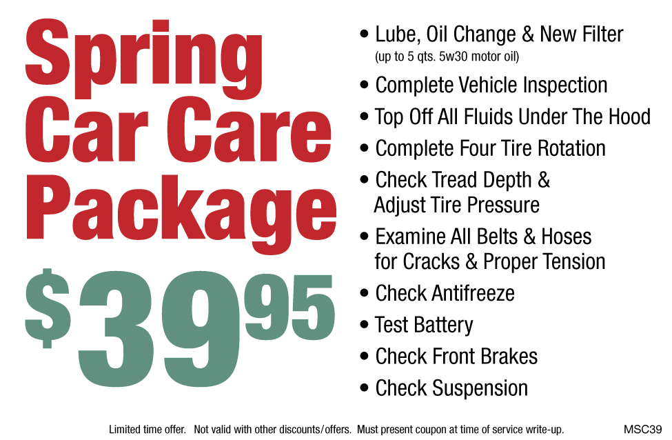 Spring Car Care Package $39.95