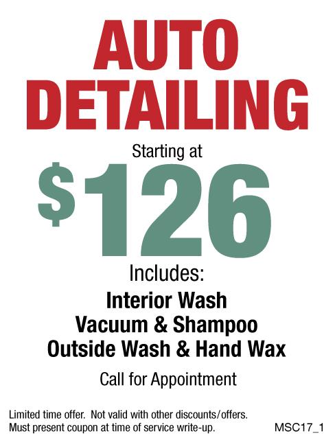 Auto Detailing $126
