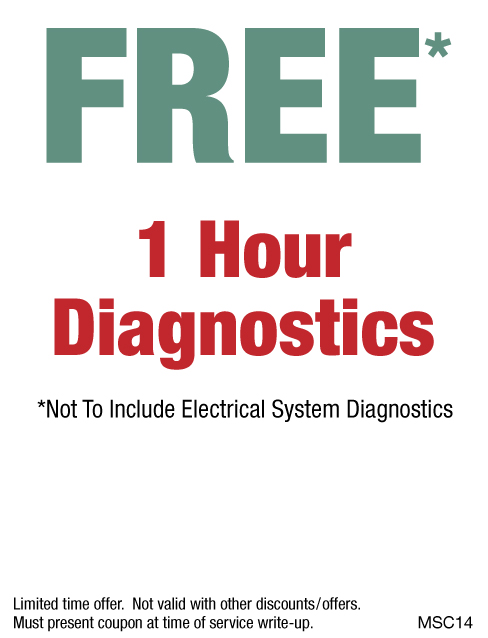 FREE 1 Hour Diagnostics