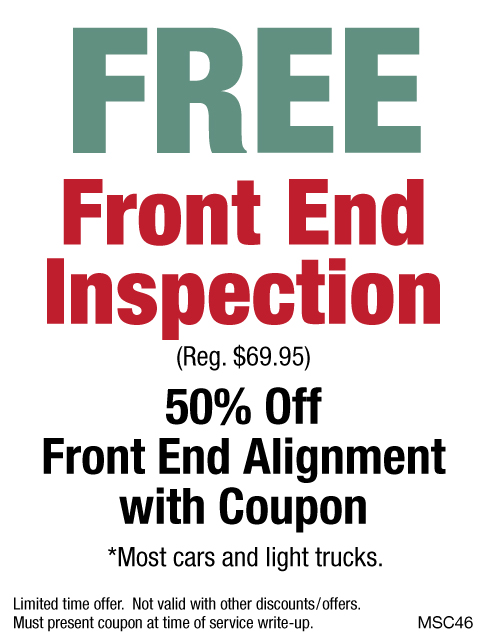 FREE Front End Inspection