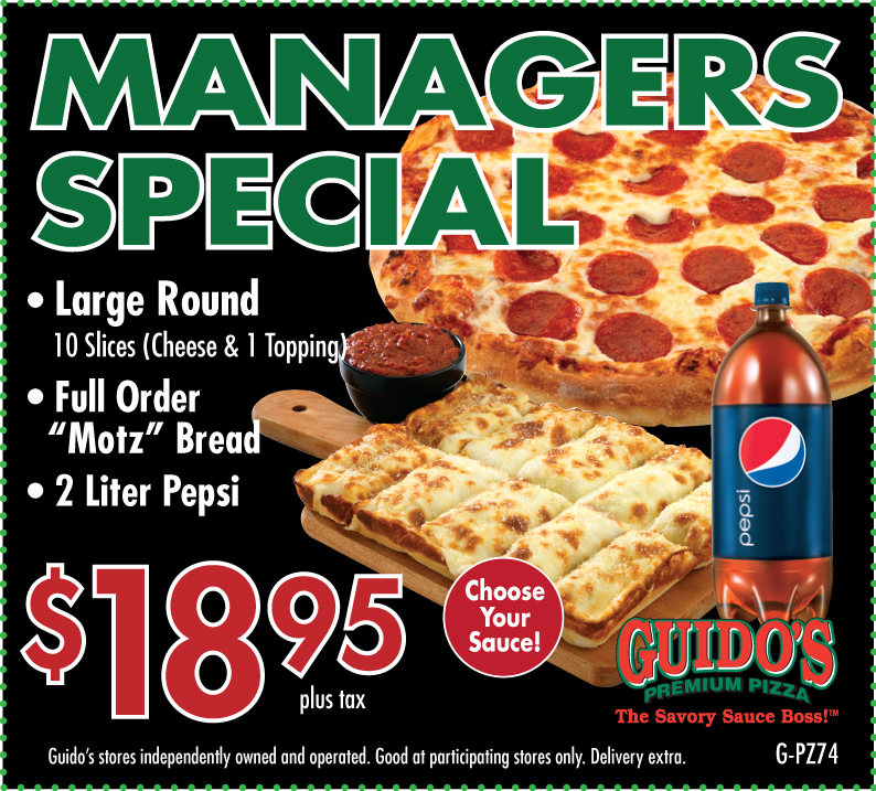Managers Special Large Round, Full Motz, 2 Liter $18.95