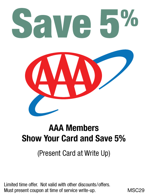 Save 5% With AAA Membership