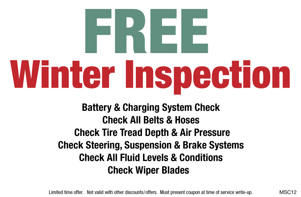 FREE Winter Inspection