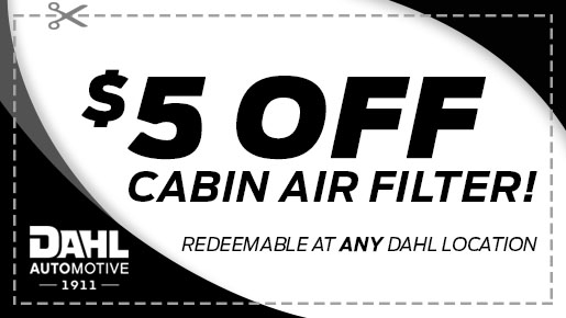 $5 Off Cabin air filter