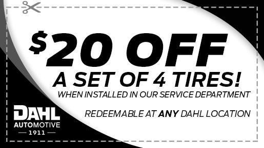 $20 Off Set of 4 Tires