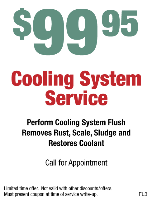 $99.95 Cooling System Service
