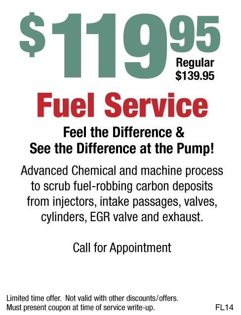 Fuel Service $119.95