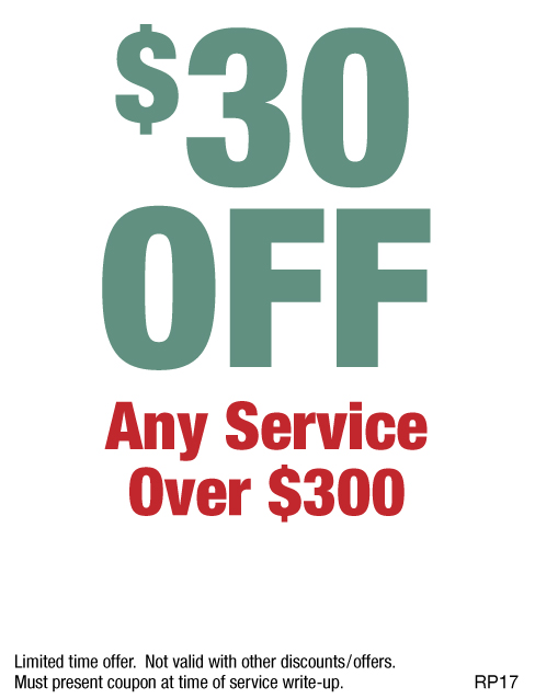 $30 OFF Any Service Over $300