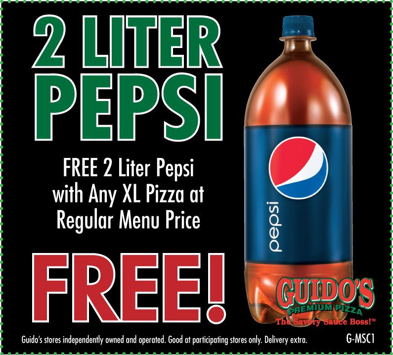 G msc1 free 2 liter pepsi