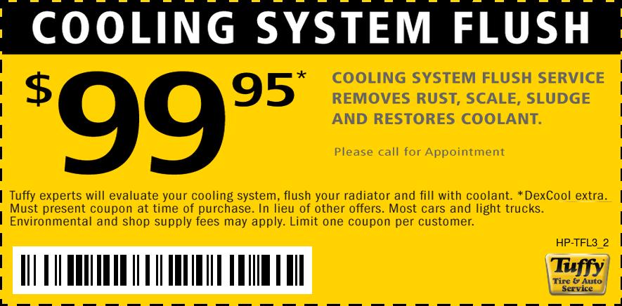 $99.95 Cooling System Flush