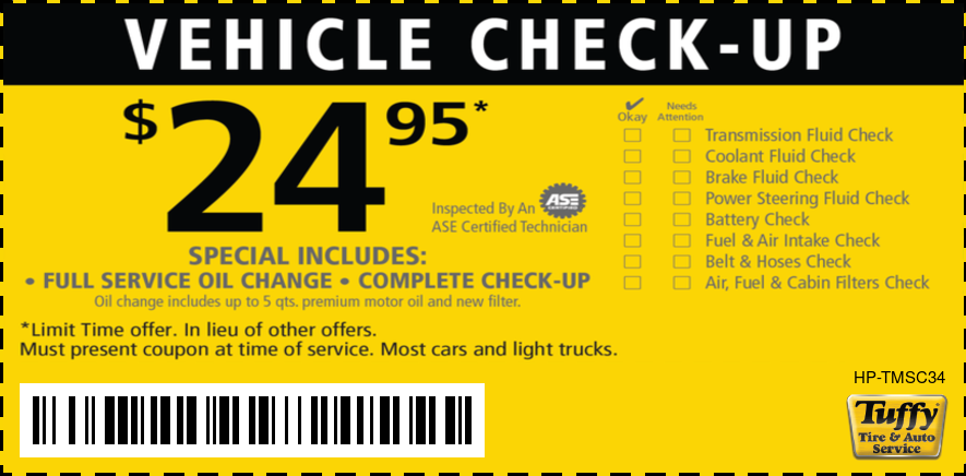 Vehicle Check-Up $24.95