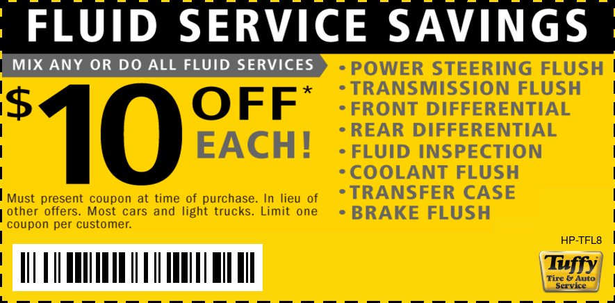 Huge Savings $10 OFF Any Fluid Service