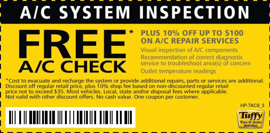 FREE A/C Check 10% OFF up to $100