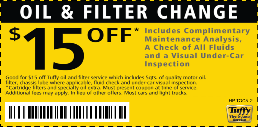 $15 Off Oil Change of Your Choice