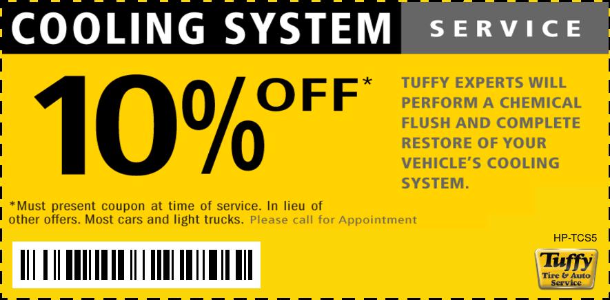 10% OFF Coolant System Flush Service