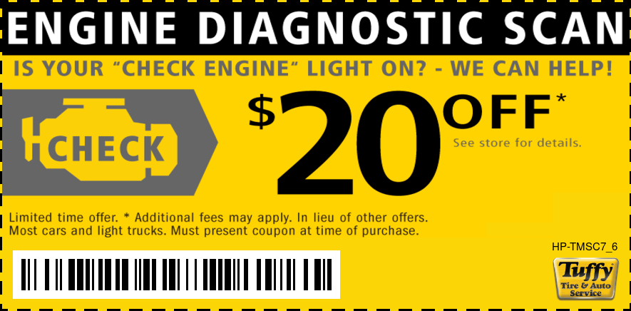 Check Engine Light $20 OFF