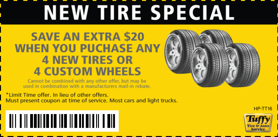 Save $20 When You Purchase 4 New Tires Or 4 Custom Wheels