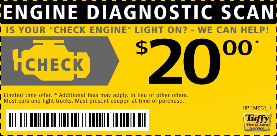Engine Check Light $20 Diagnostic Scan