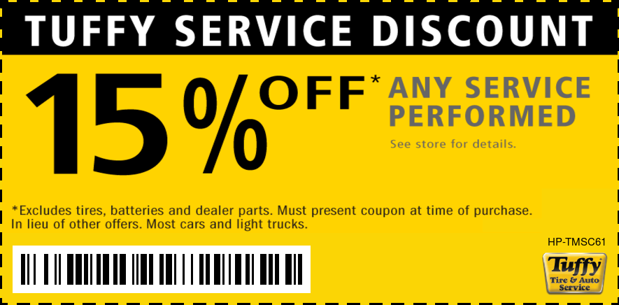 15% OFF Any Service Performed