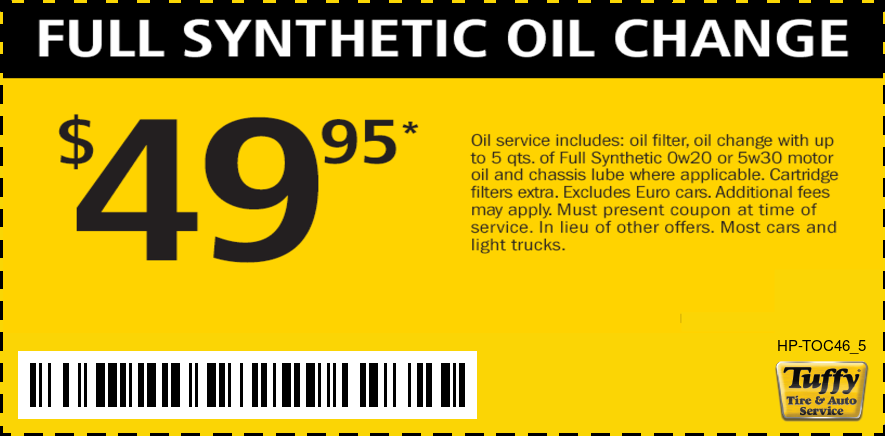 Full Syn. Oil Change $49.95