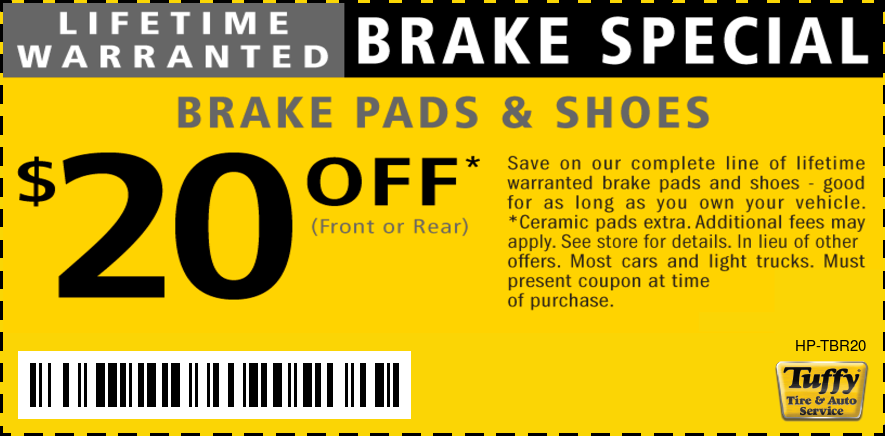 Lifetime Warranted Brake Pads & Shoes $20 OFF