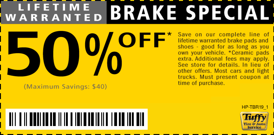 Lifetime Warranted Brakes 50% Off