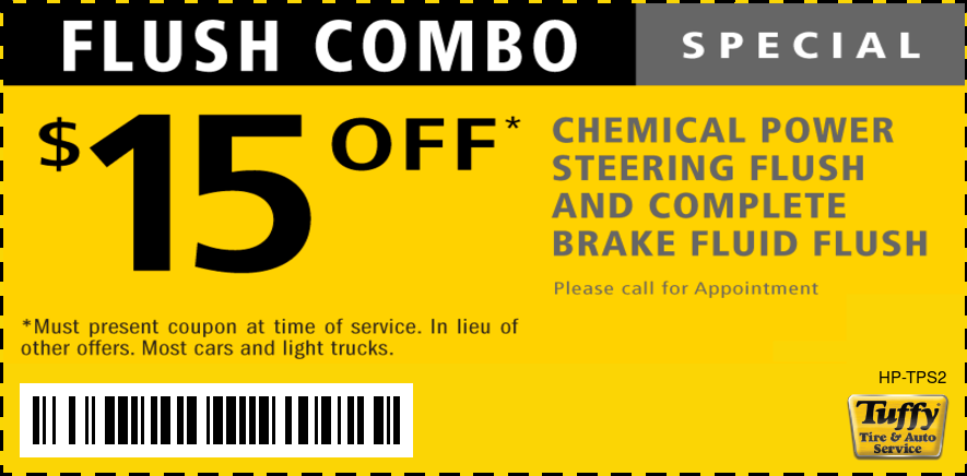 $15 OFF Combo Power Steering Flush W/Brake Fluid Flush