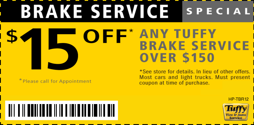 $15 OFF Any Brake Service Over $150