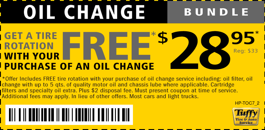 FREE Tire Rotation W/$28.95 Oil Change