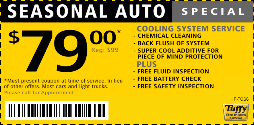 Seasonal Auto Special $79 Coolant System Service