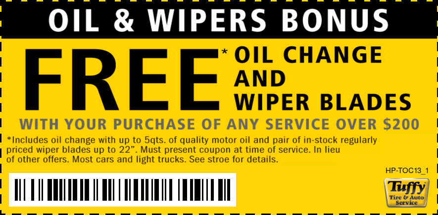 FREE Oil Change W/Wiper Blades W/Any Service Over $200
