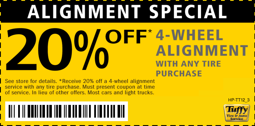 20% OFF Wheel Alignment With Any Tire Purchase