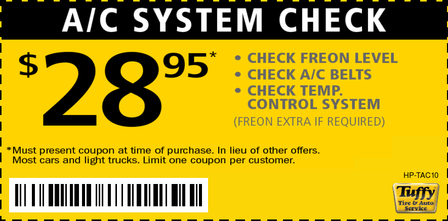 A/C System Check $28.95