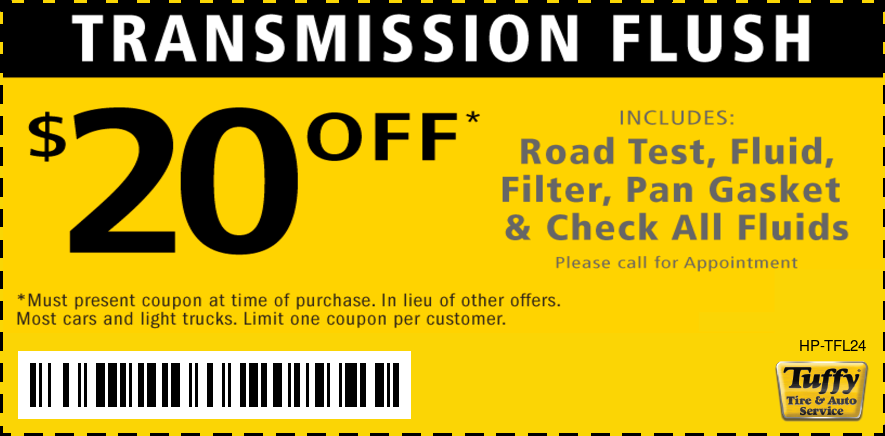Transmission Service Flush $20 OFF