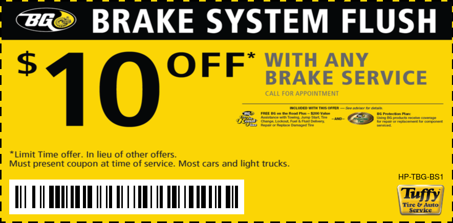$10 OFF BG Brake System Flush