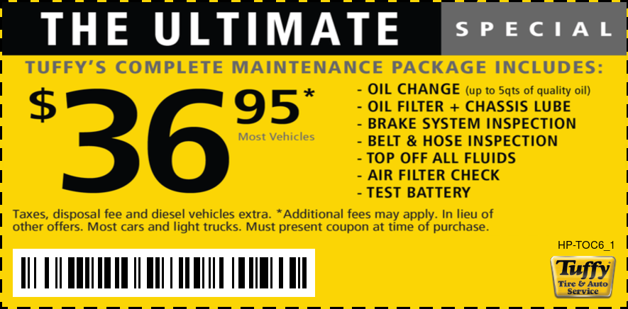 The Ultimate Oil Change $36.95