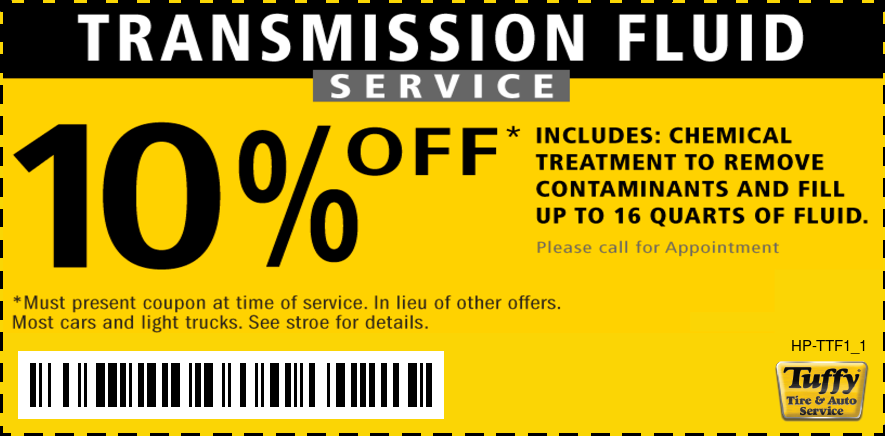 10% Off Transmission Fluid Service