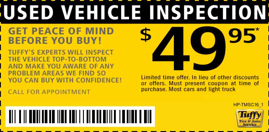 Used Vehicle Inspection $49.95