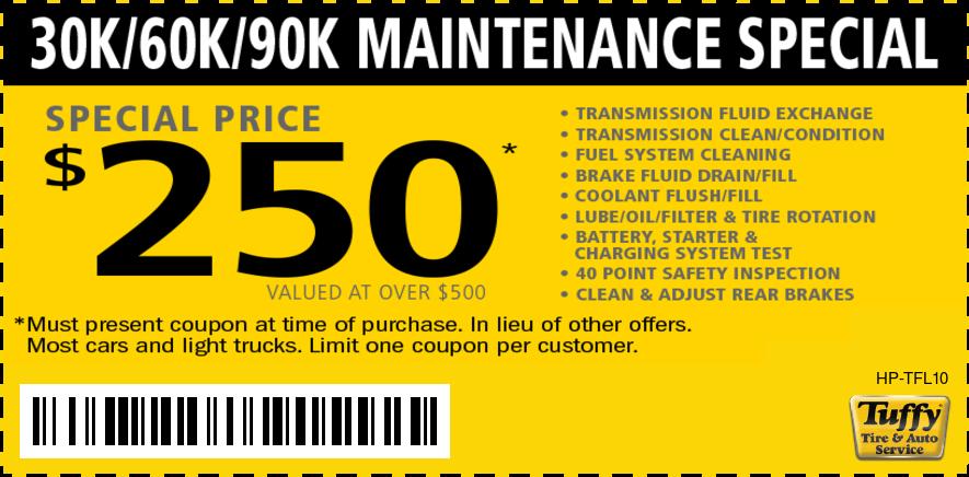 30K/60K/90K Maintenance Special $250