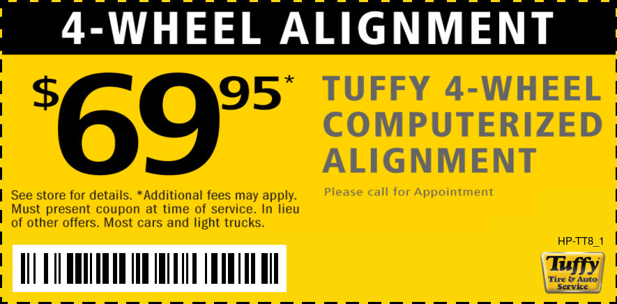 $69.95 4 Wheel Computerized Alignment
