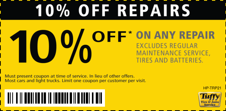 10% OFF Any Repair (Excludes Reg. Maintenance/Tires/Batteries)