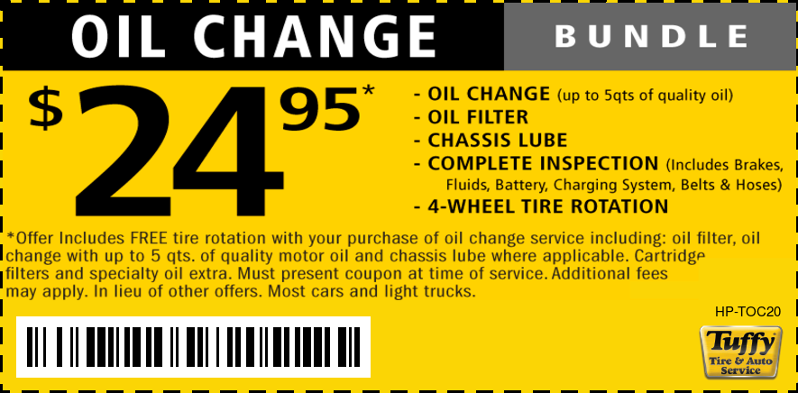 Oil Change & Tire Rotation $24.95