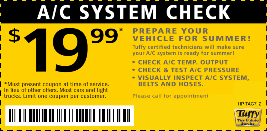 A/C System Check $19.99 Prepare For Summer!