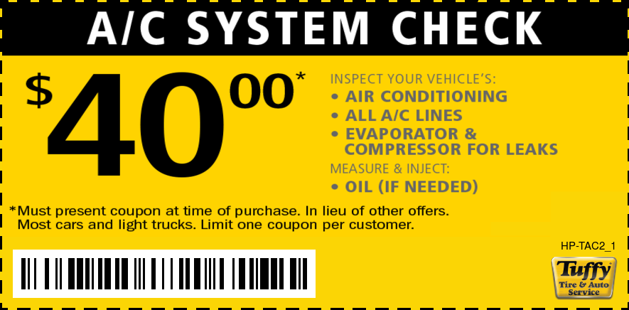 A/C System Check $40