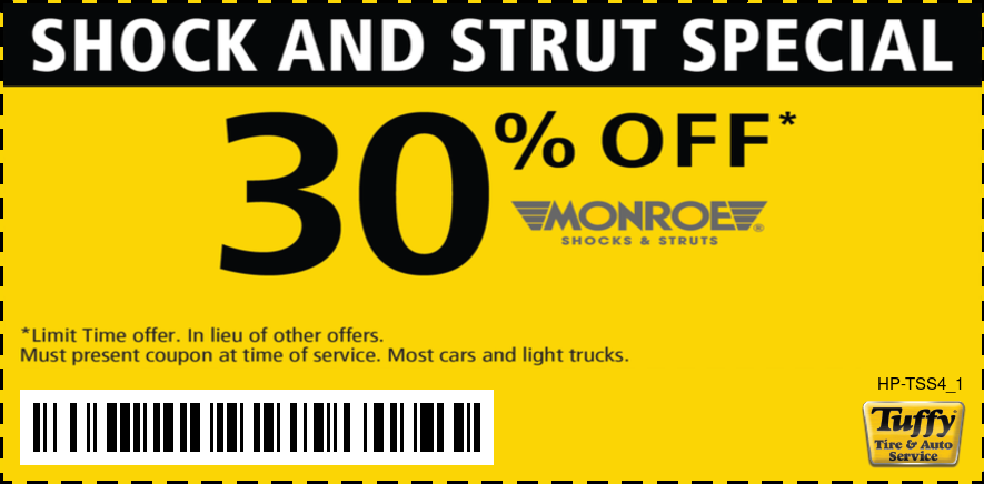 30% OFF Monroe Shocks & Struts